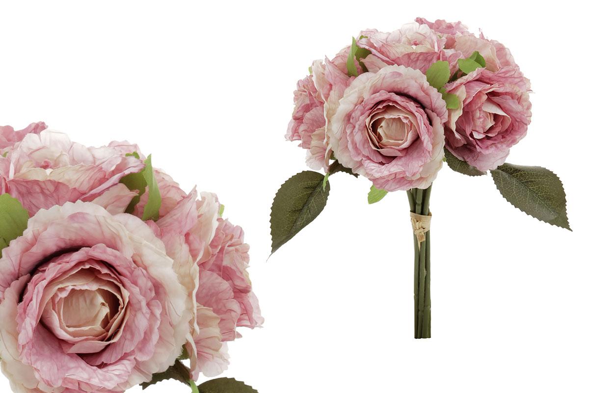 Puget růží - vzhled sušených růží, barva lila.