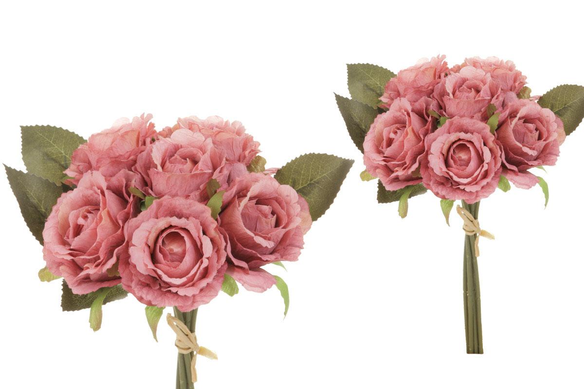 Puget růží - vzhled sušených růží, barva červená