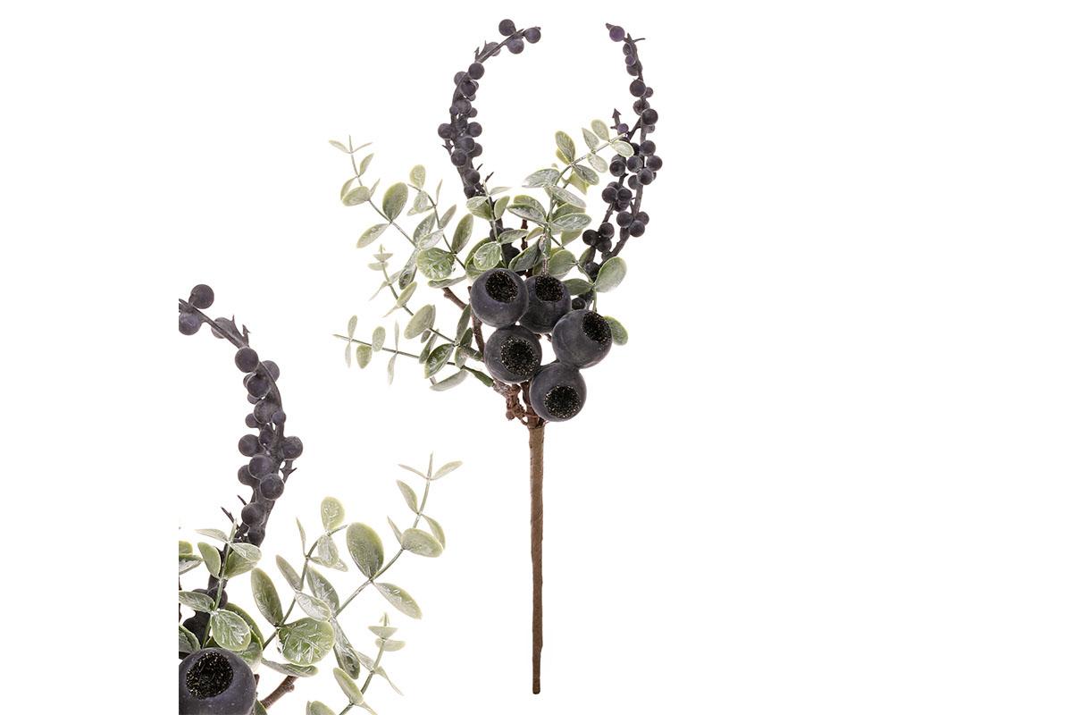 Větev s fialovými plody. Cena za 1ks.