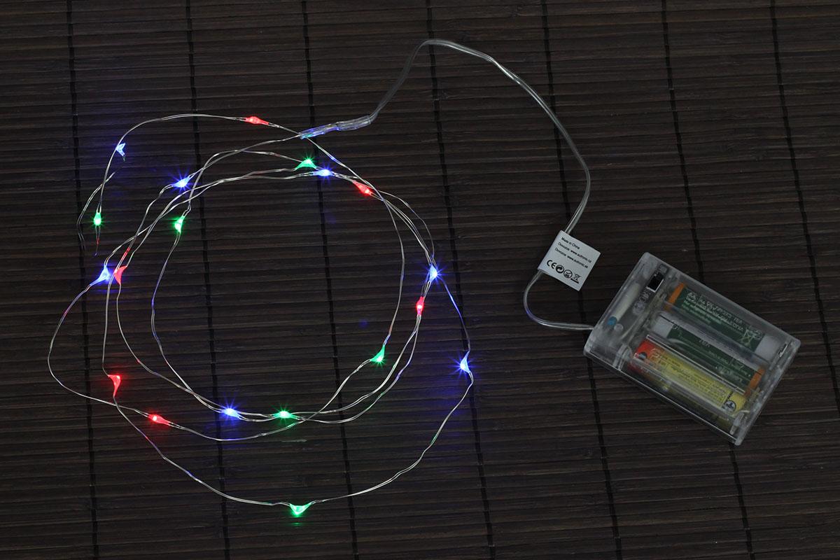 Reťaz s LED svetielkami - viacfarebný