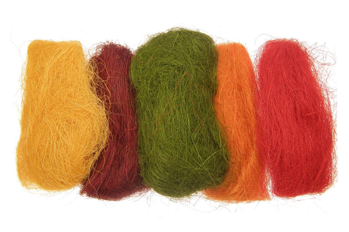 Sisalové vlákno, mix farieb, 150g/bal.