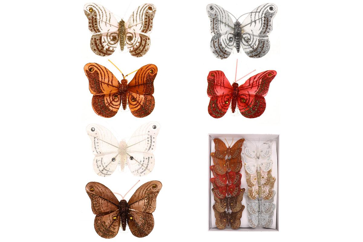 Motýľ so štipcom,  cena za 12 ks/box