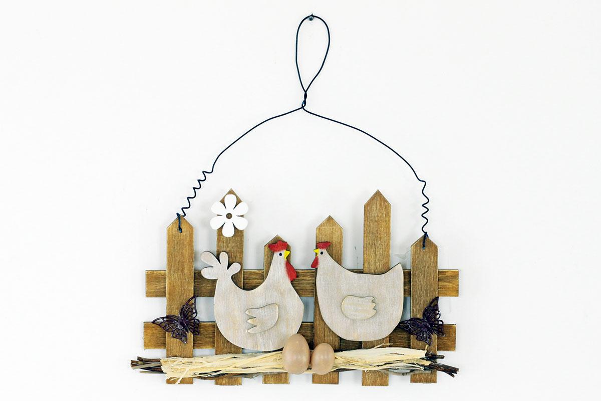 Dřevěná dekorace na zavěšení