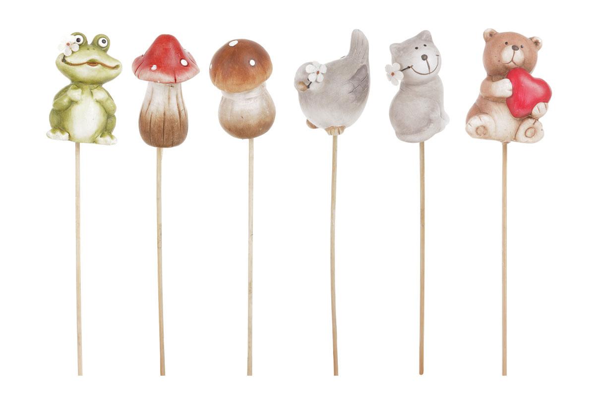 Zápich keramický, mix designů..sloni, medvědi a děti.Cena za 1ks.