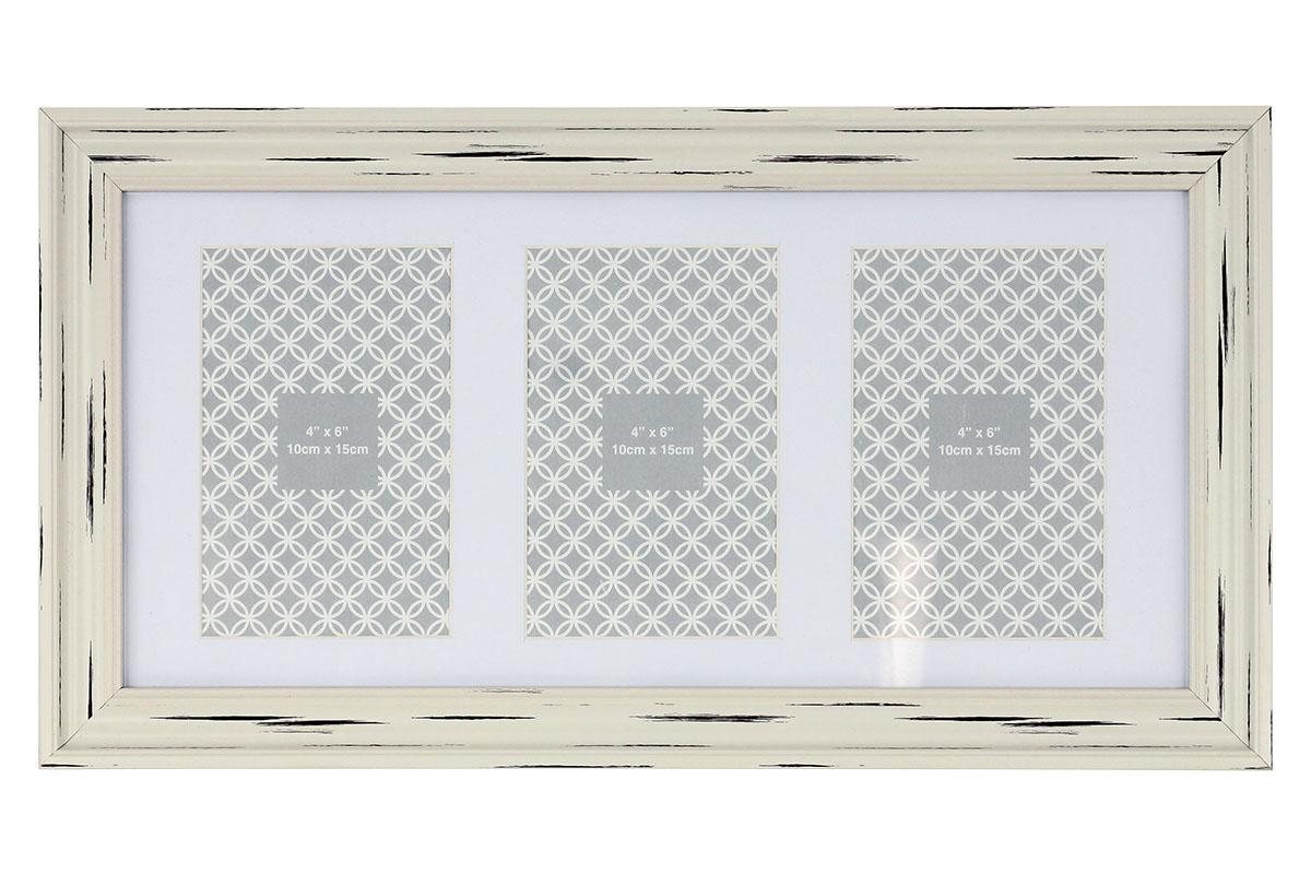 FOTORÁMIK PLASTOVÝ NA 3 FOTOGRAFIE veľkosti 10x15 cm