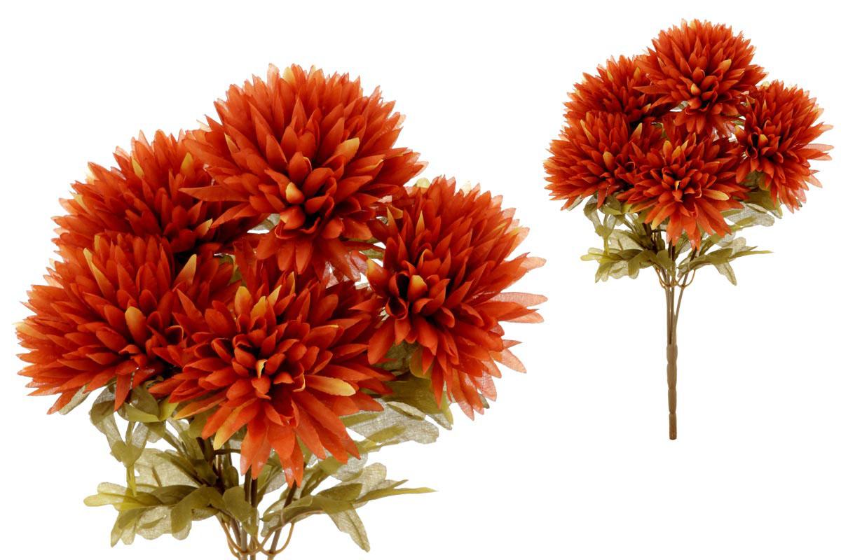 Chryzantéma puget,5-hlavá,hnědá.
