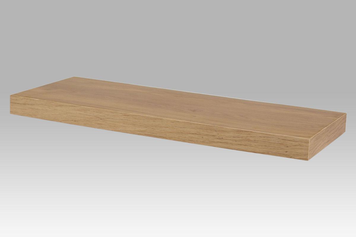 polička nástenná 60x24x4cm, dub