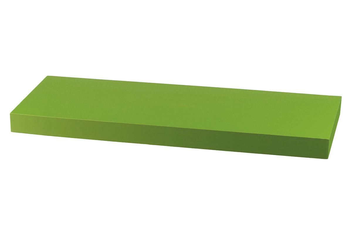 polička nástenná 60x24x4cm, zelená