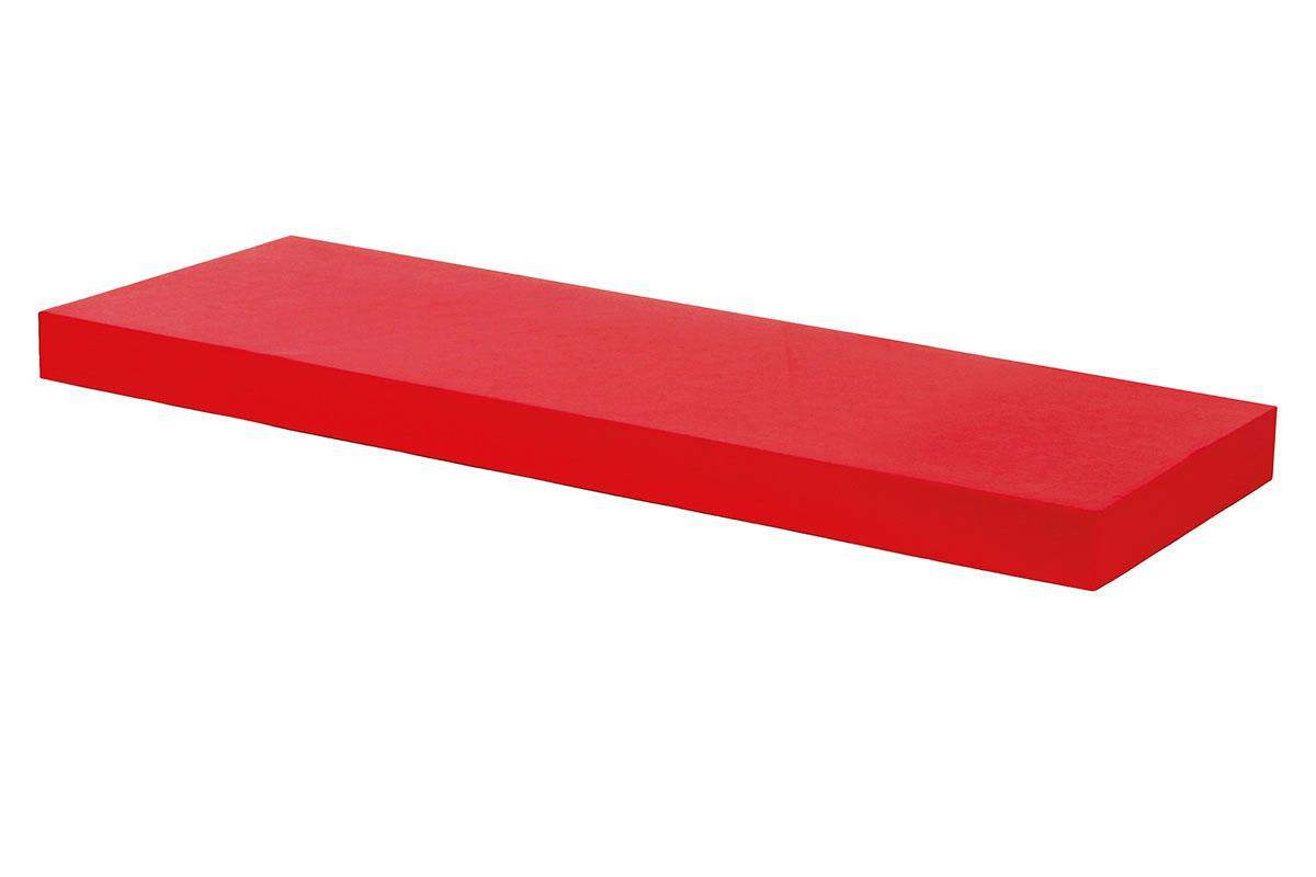polička nástenná 60x24x4cm, červená vysoký lesk