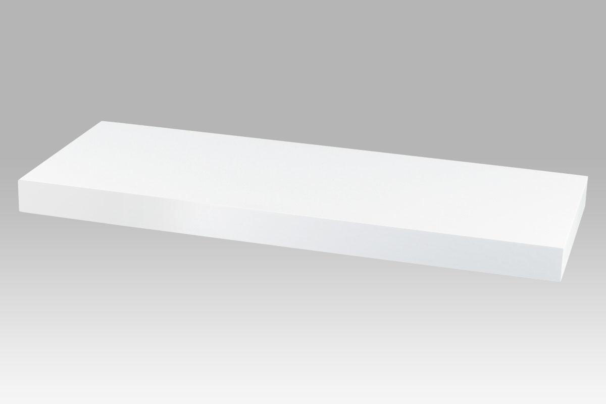 polička nástenná 60x24x4cm, biela