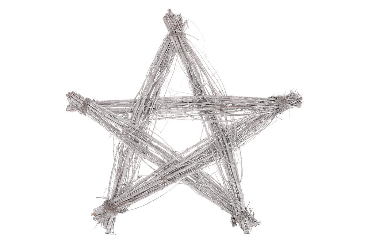 Hvězda proutěná, stříbrná barva.