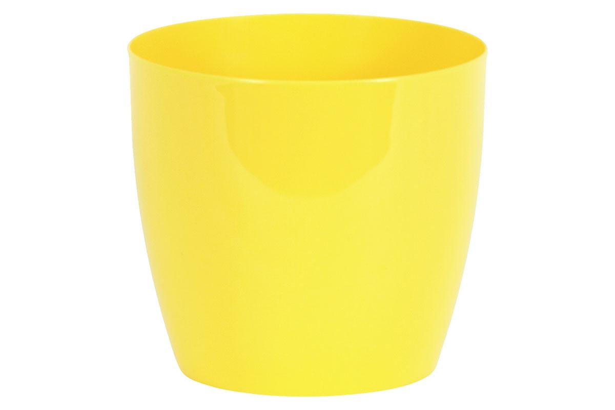 Obal na květiny plastový - barva žlutá