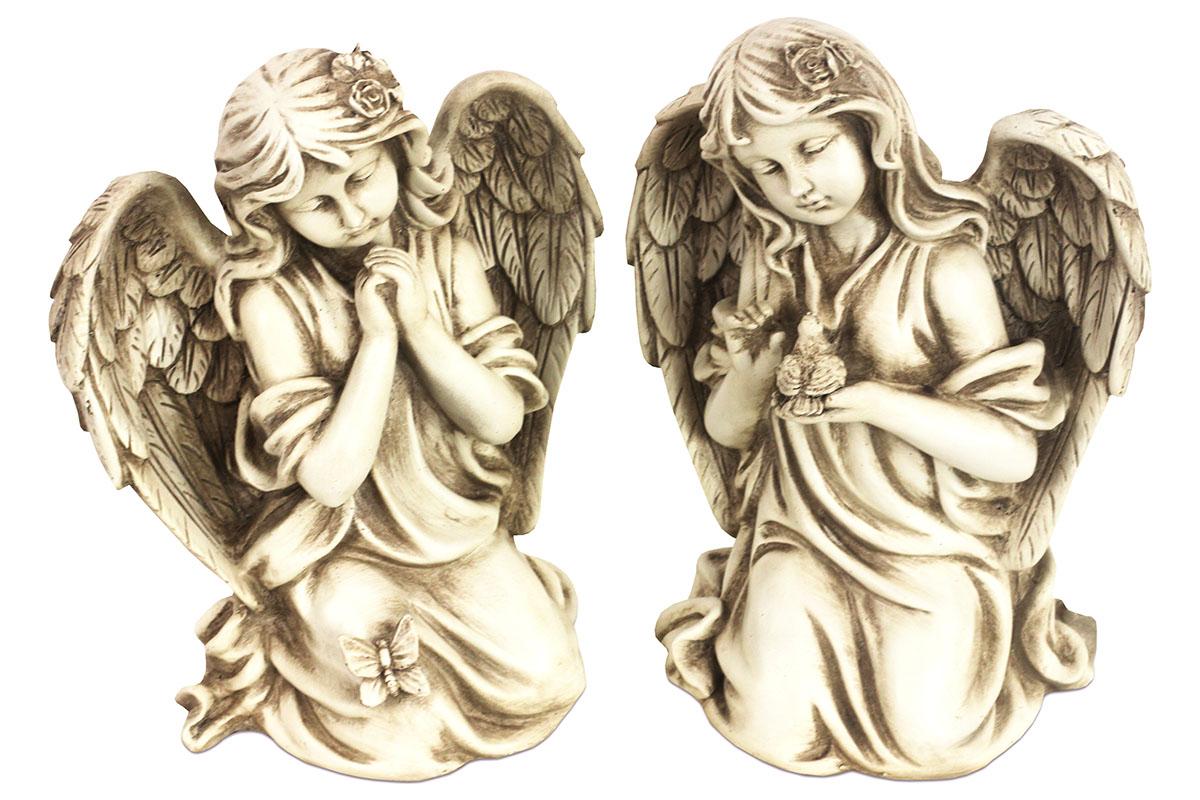Anděl, dekorace z polyresinu, mix 2 tvarů