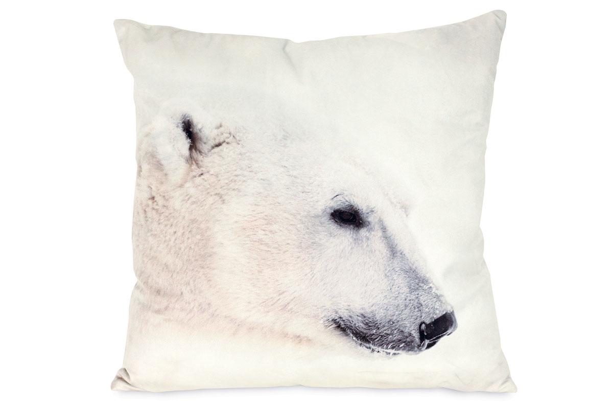 Vankúš s výplňou, ľadový medveď