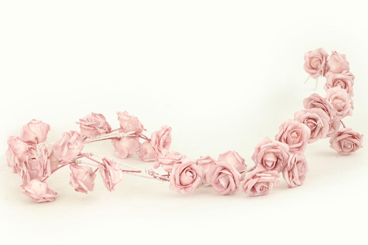 GARLANDA Z PENOVÝCH RUŽIČIEK, FARBA RUŽOVÁ, 98 cm