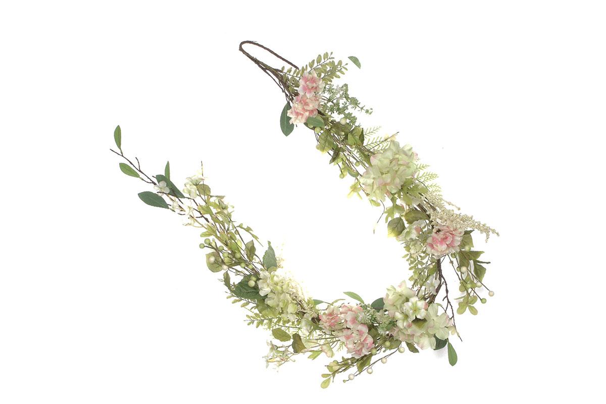 Girlanda květinová - hortenziová.