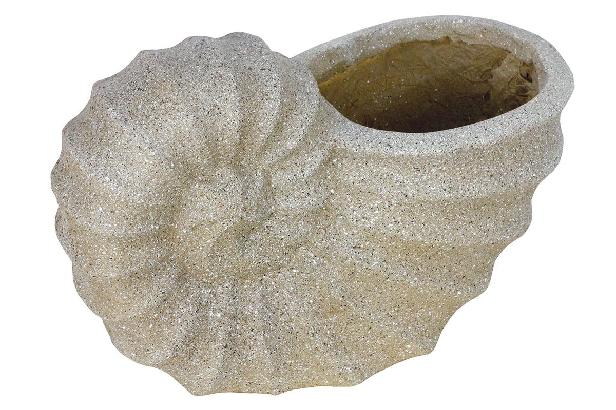 Kvetináč, mrazuvzdorný, tvar ulity