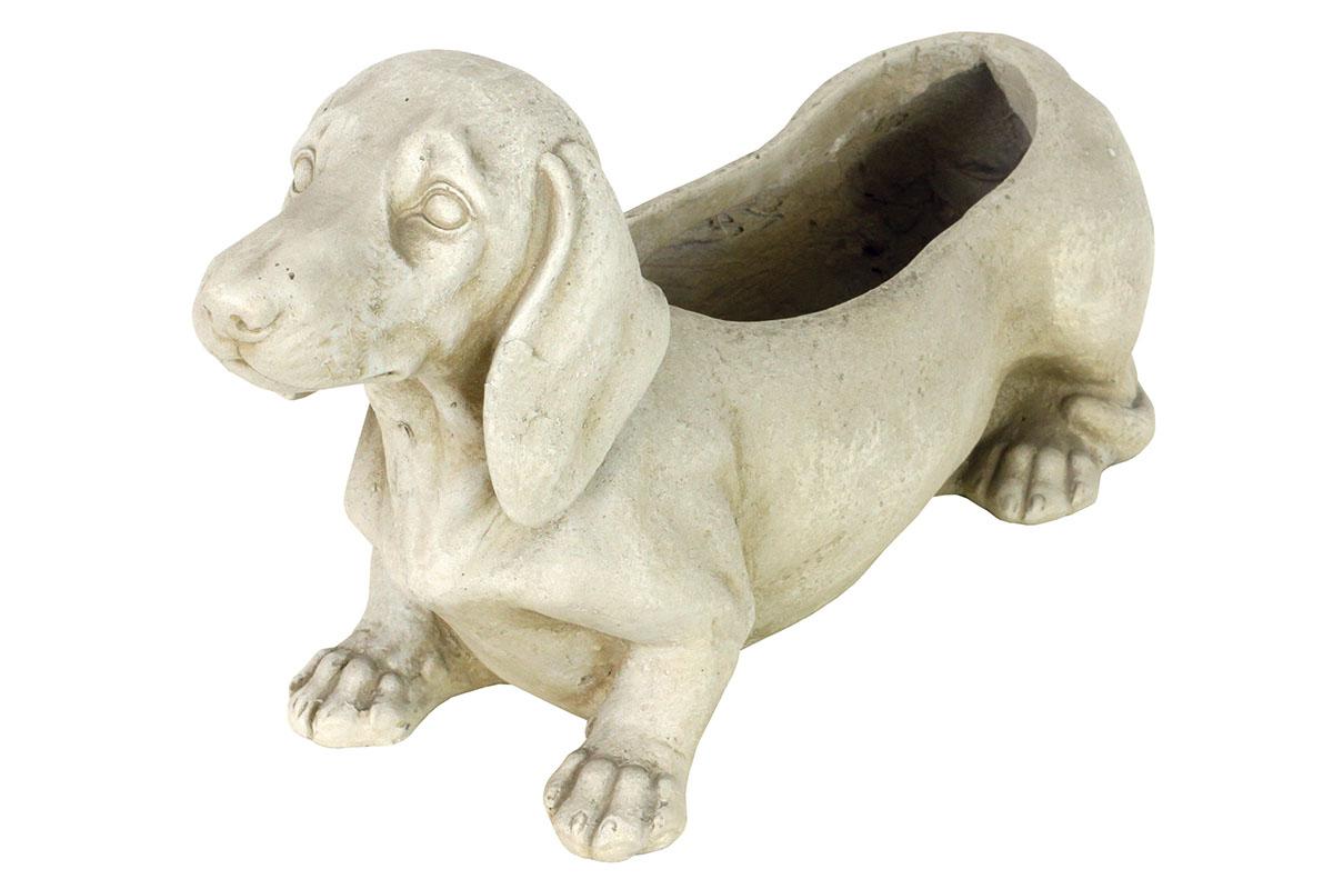 Kvetináč, mrazuvzdorný, tvar psa