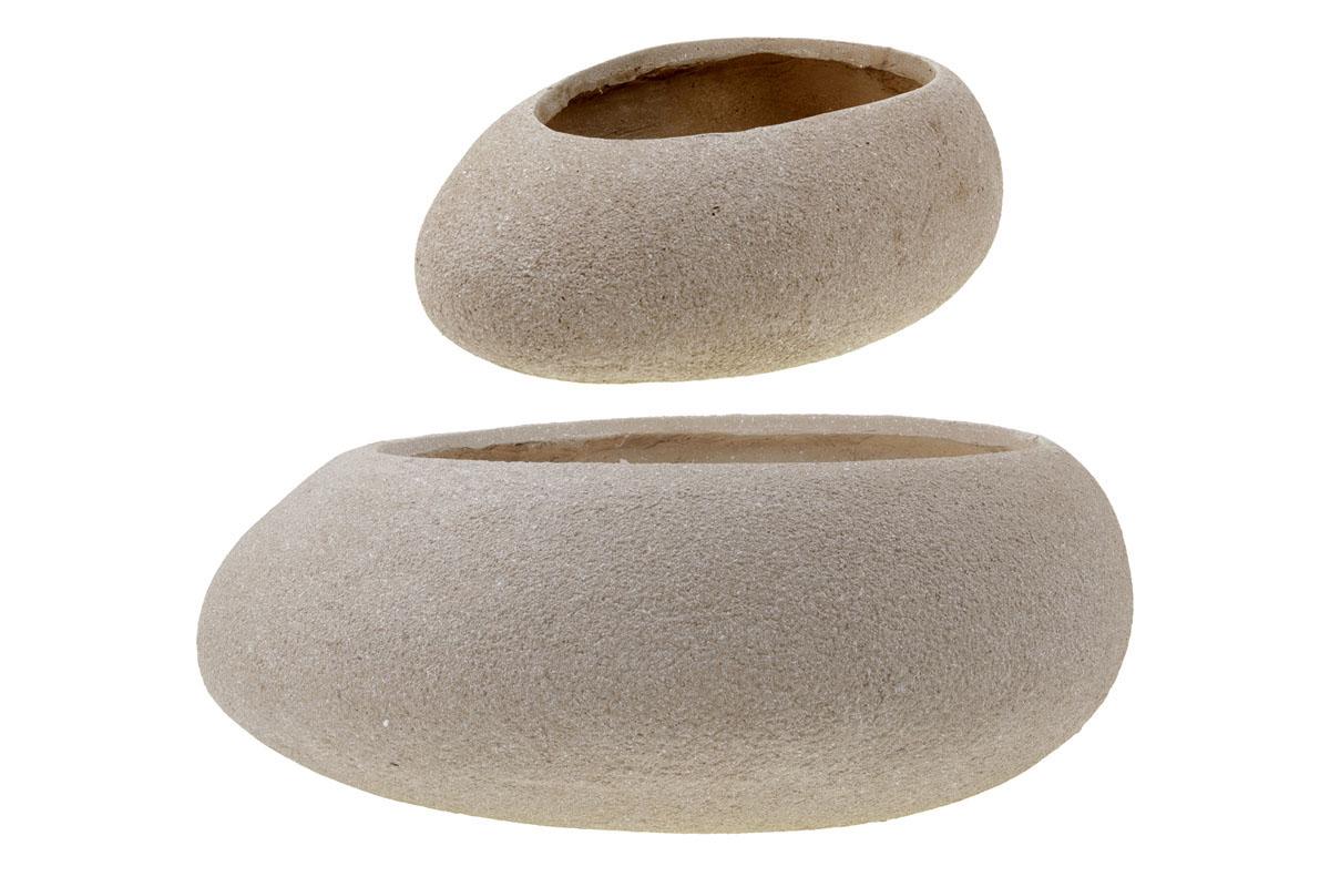 Květináč  mrazuvzdorný, tvar kamene, sada 2 kusy