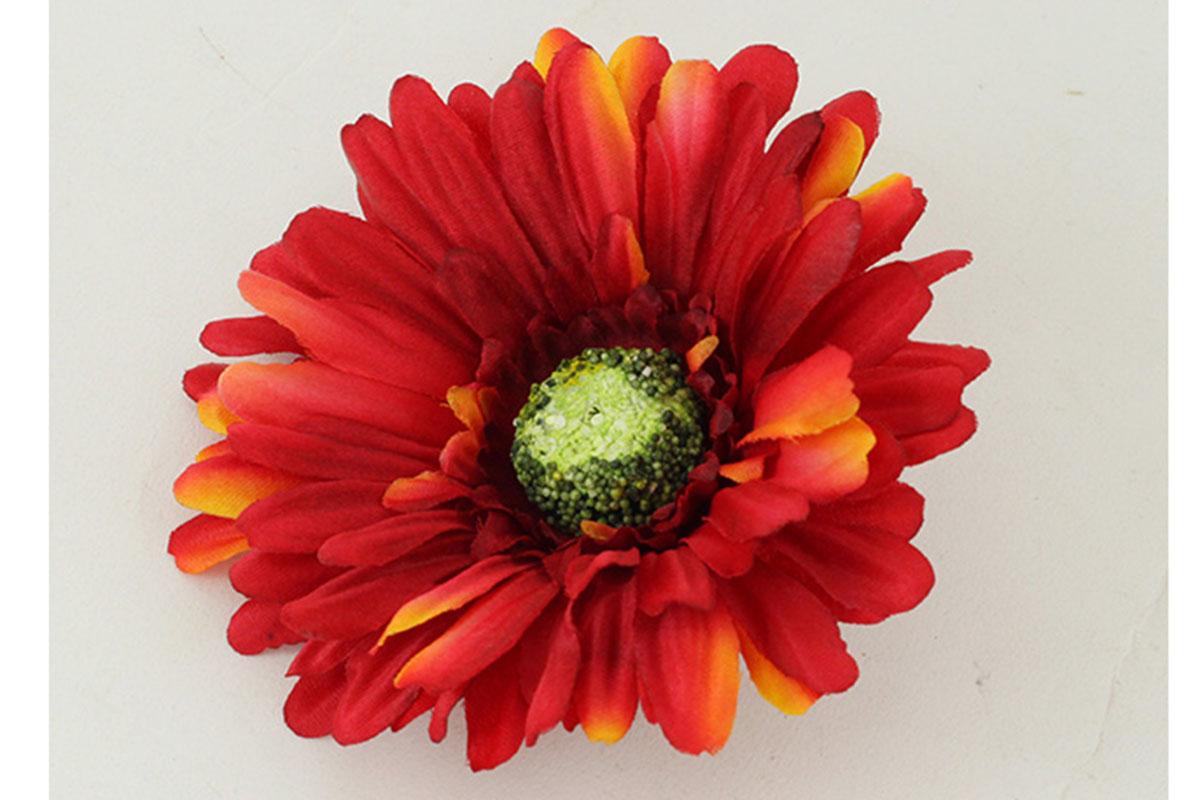 Květina vazbová, umělá gerbera, barva červená , cena za balení 12 kusů