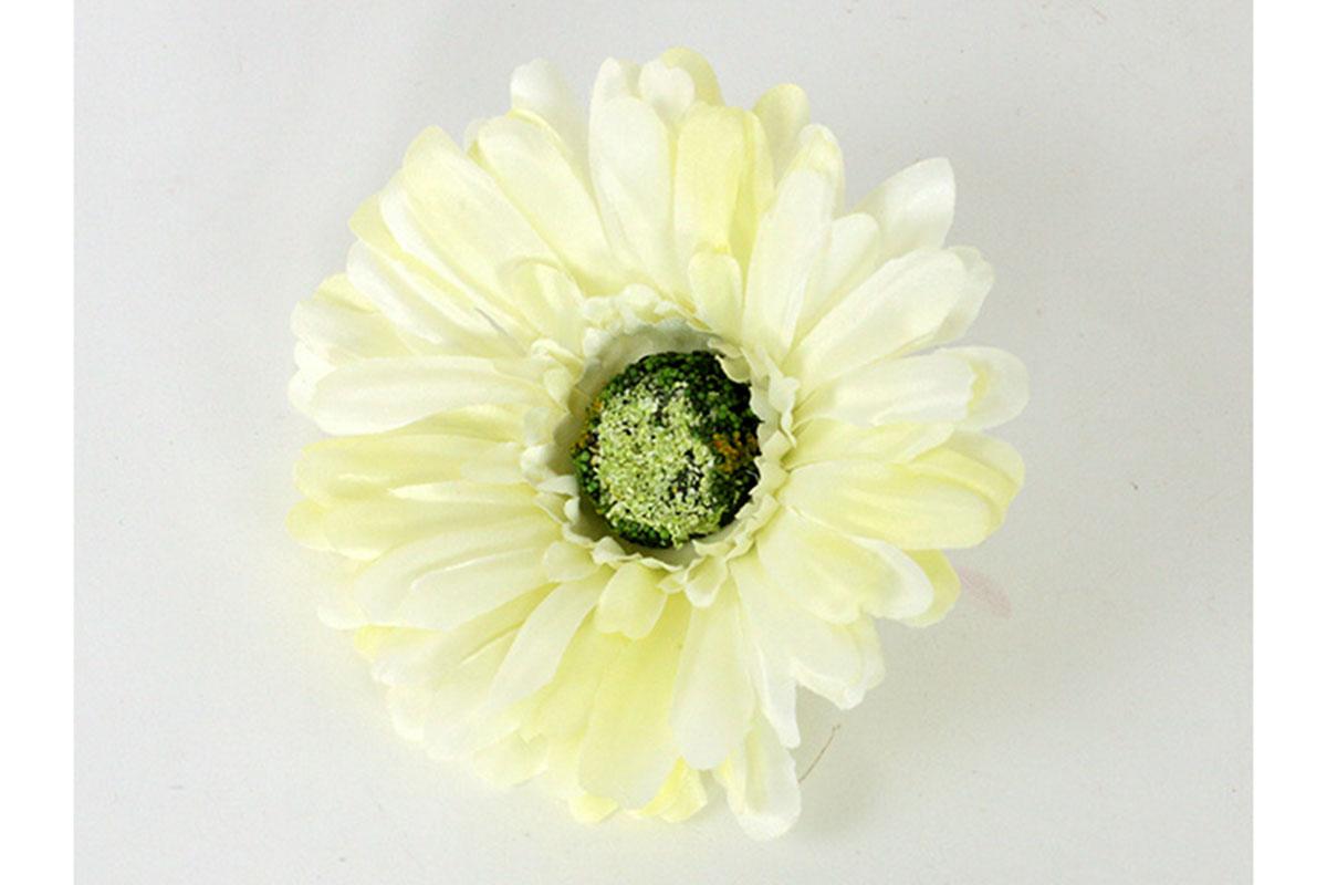Květina vazbová, umělá gerbera, barva krémová, cena za balení 12 kusů