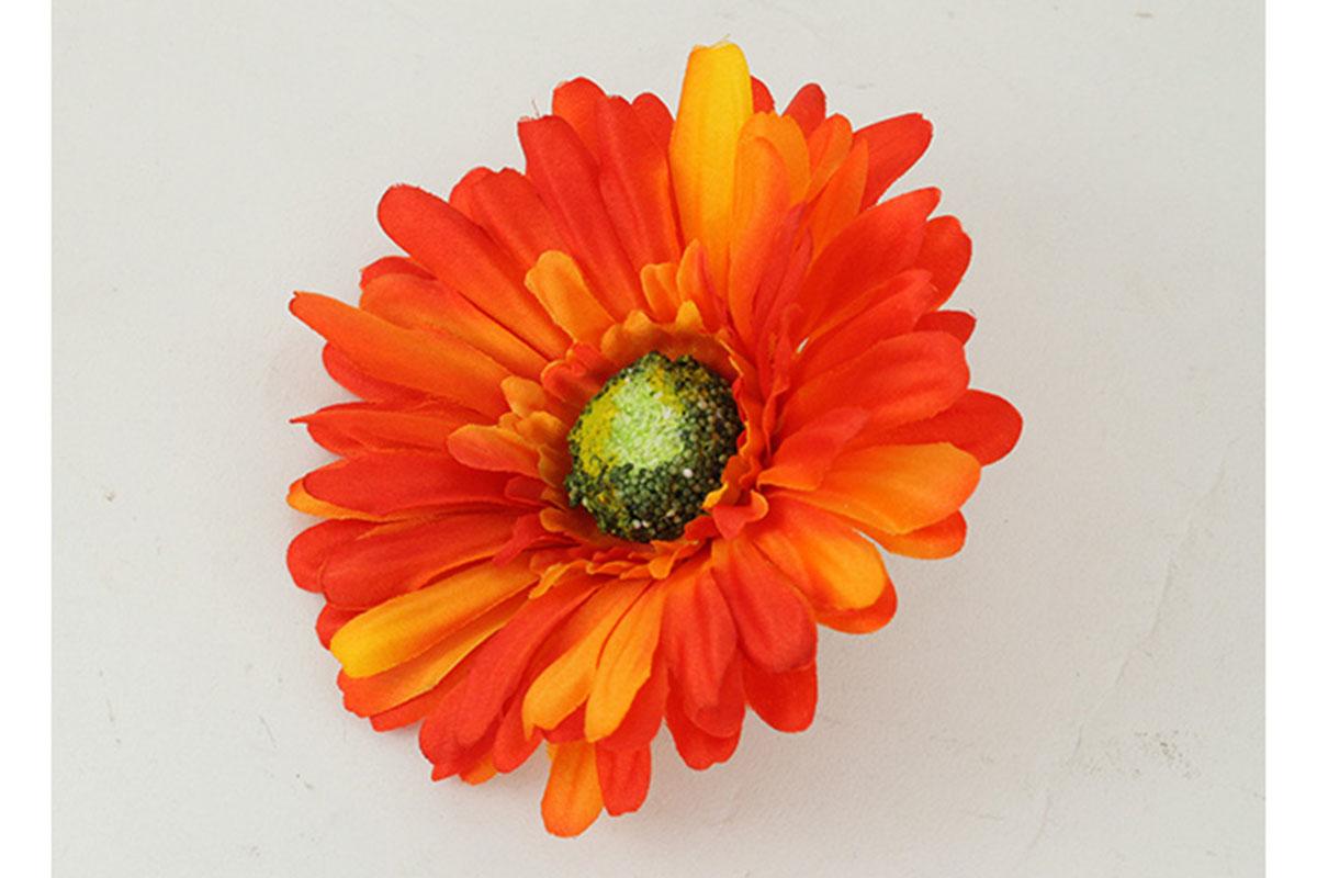 Květina vazbová, umělá gerbera, barva oranžová, cena za balení 12 kusů