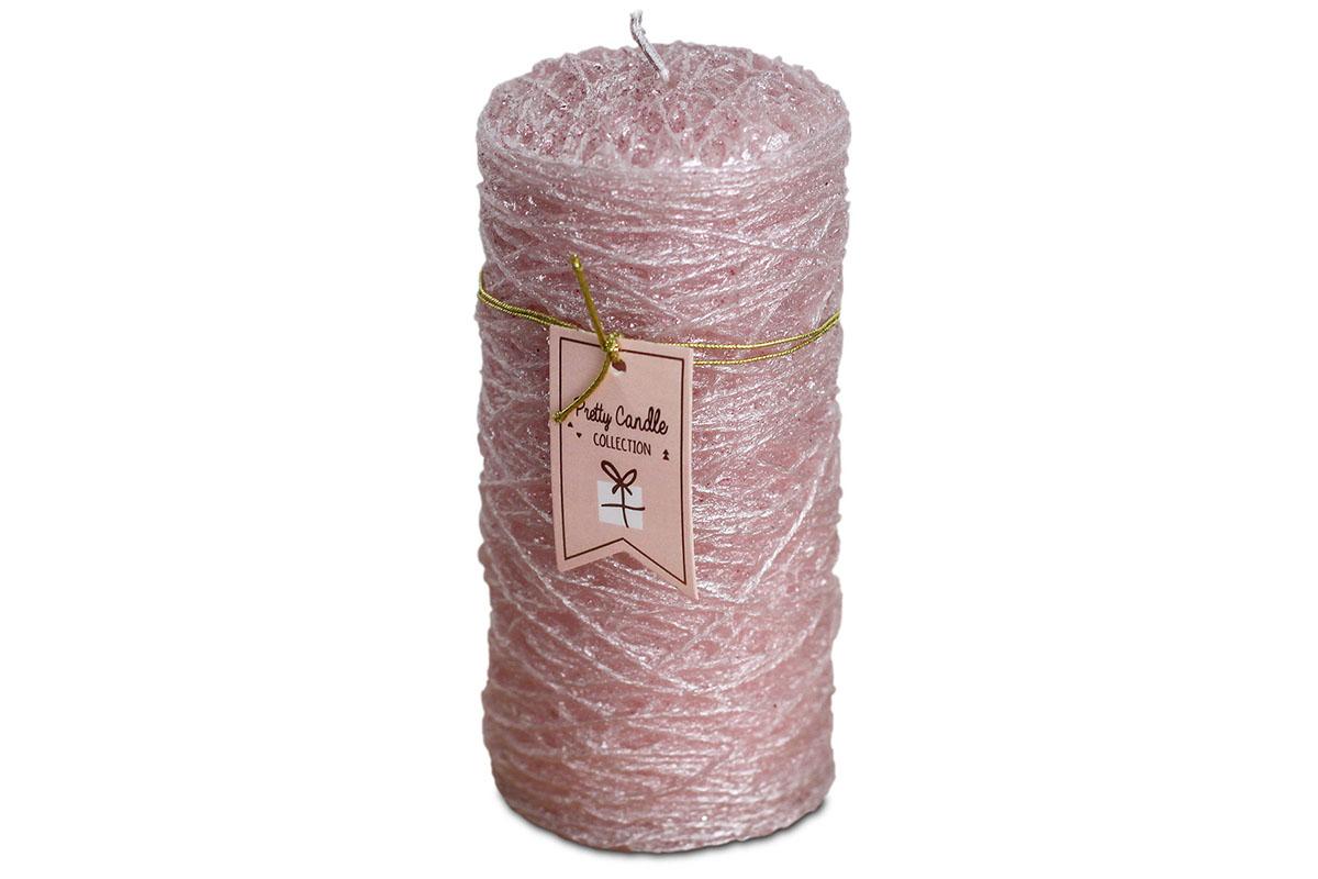 Svíčka vánoční , g vosku, barva růžová