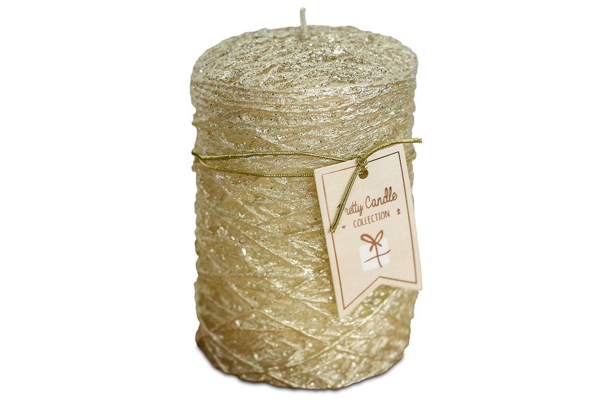 Svíčka vánoční , g vosku, barva zlatá
