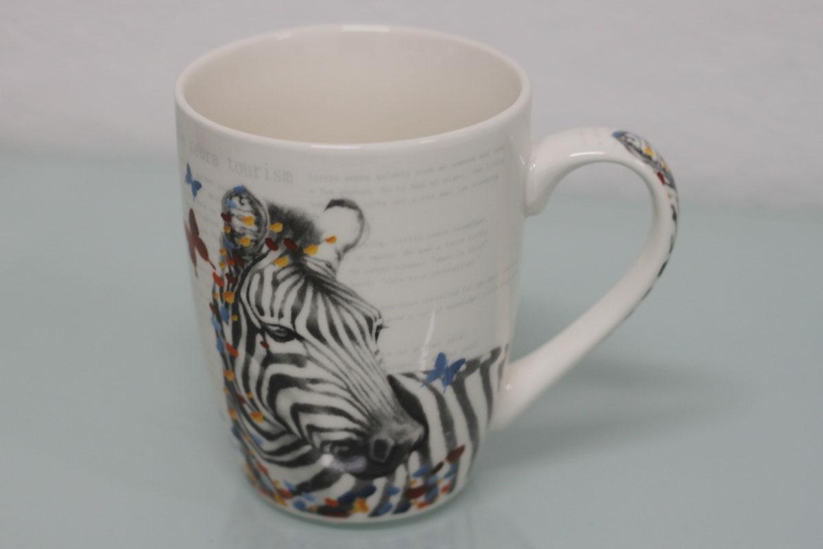 Hrneček keramický, dekor zebry