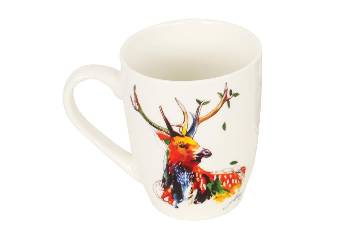 Hrneček keramický,dekor jelena