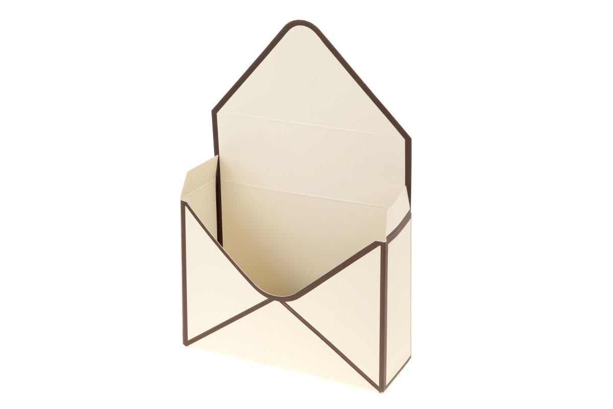 Kvetinový papierový box, farba béžová