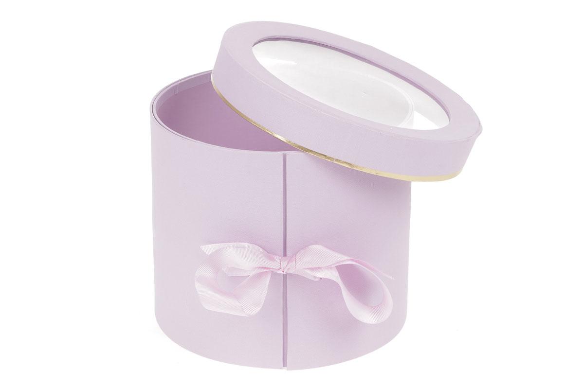 Kvetinový papierový box, farba svetlo fialová