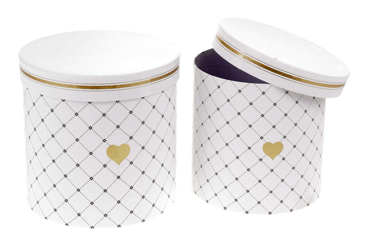 Kvetinový papierový box, farba so zlatým srdiečkom