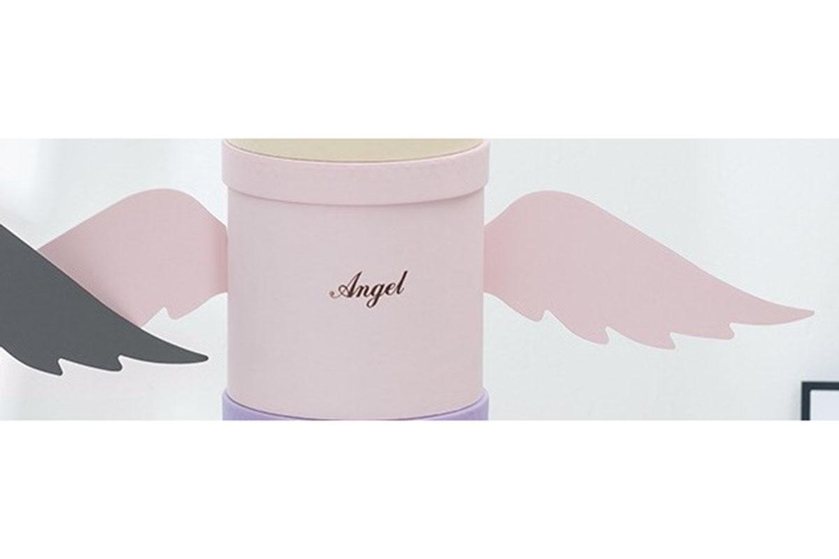 Kvetinový papierový box, farba ružová