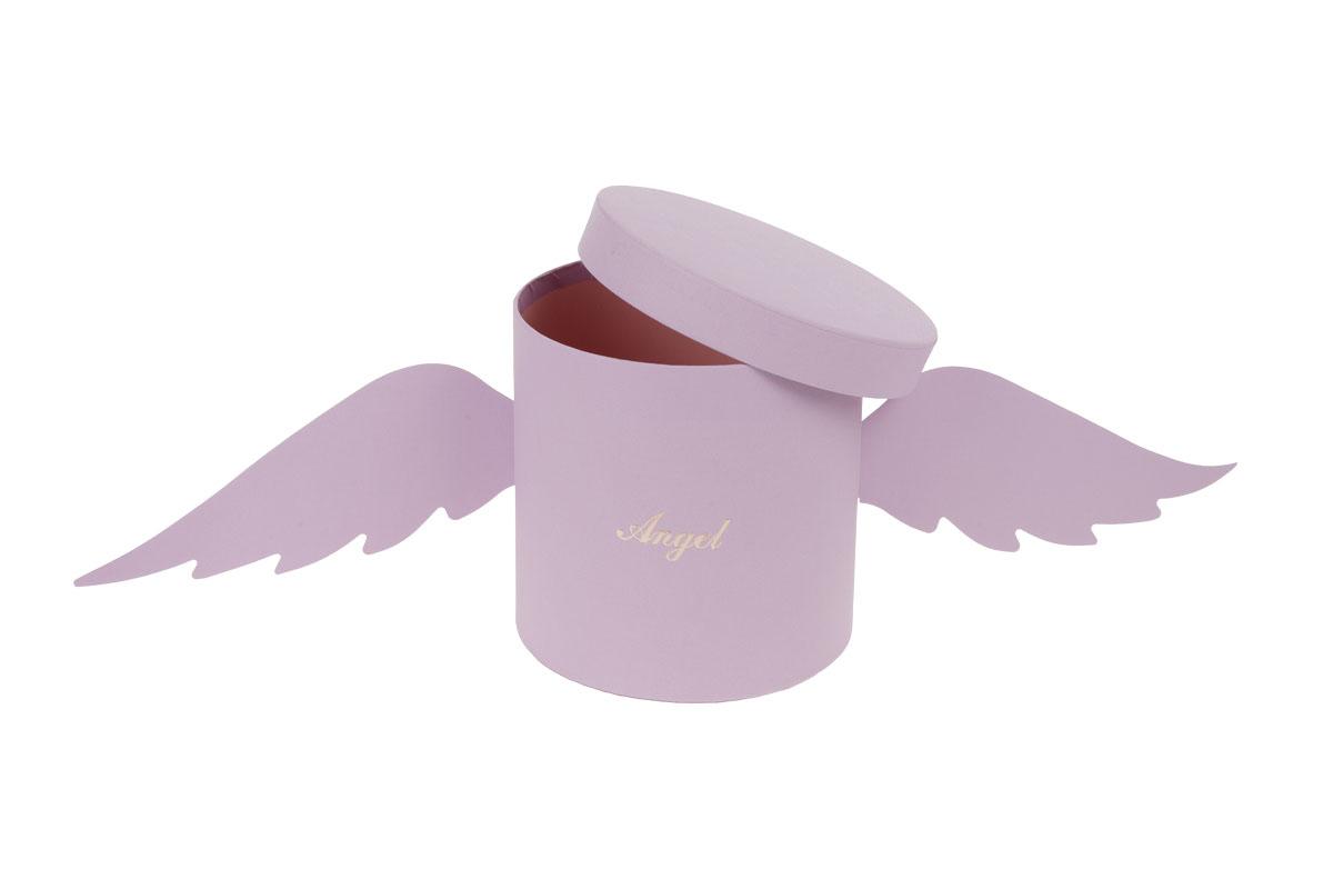 Kvetinový papierový box, farba fialová