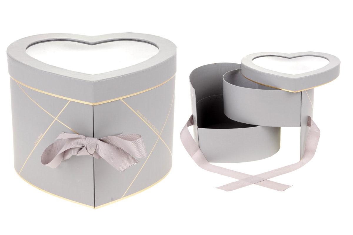 Kvetinový papierový box, farba šedá