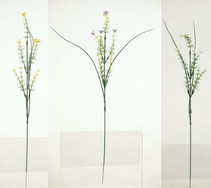 Umelý plastový kvet /6ks vo zväzku/