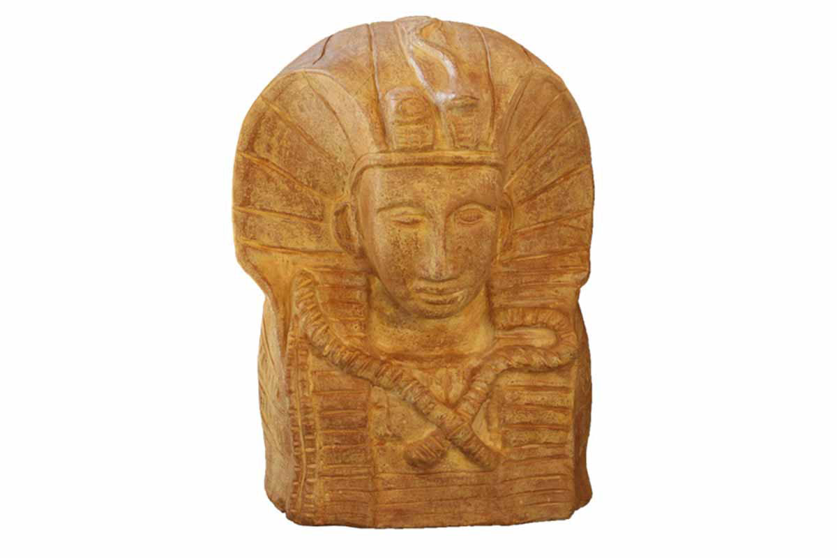 Keramická busta Tutanchamona, barva terakota