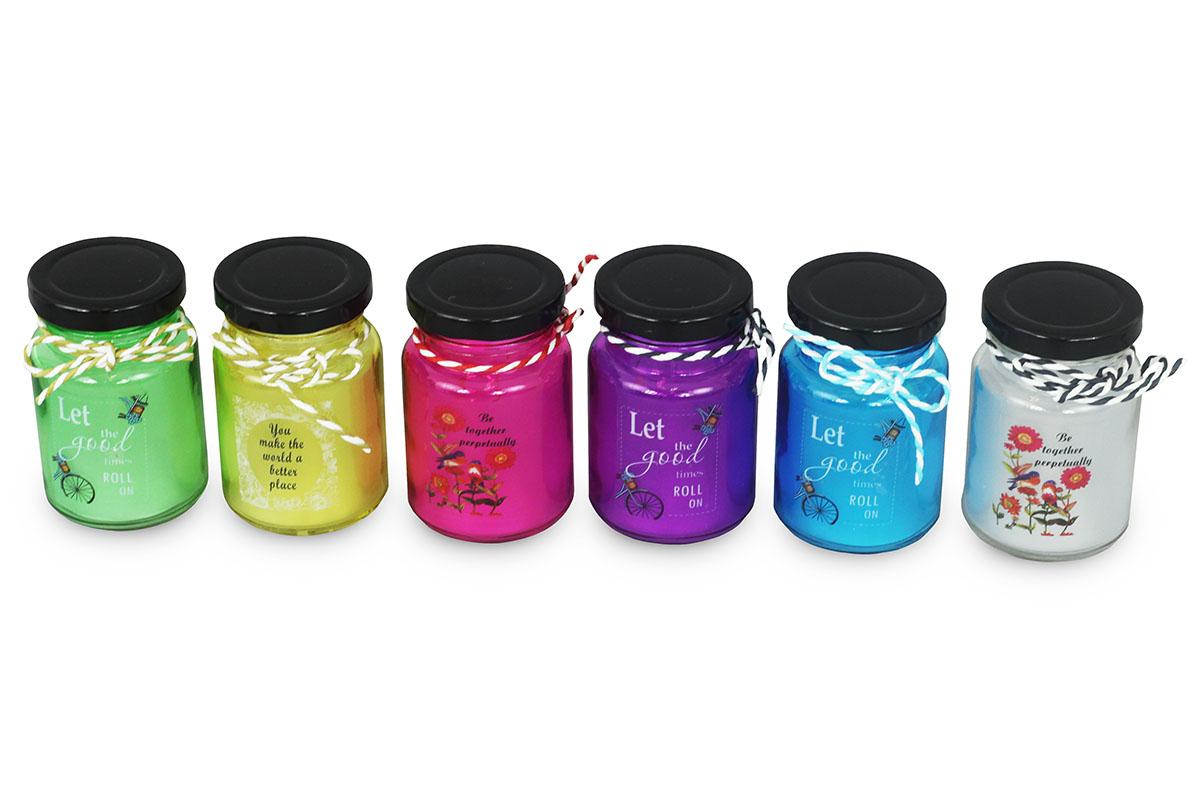 Dekorace skleněná s  LED světlem, mix barev,cena za 1 kus