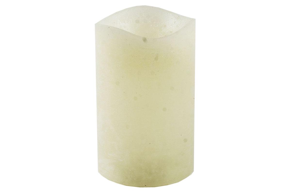 Svietnik z plastu v tvare sviečky  s LED svetlom, farba krémová