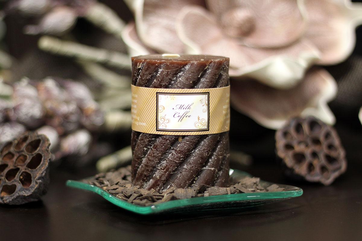 VONNÁ SVIEČKA, vôňa kávy a čokolády, 285g vosku, doba horenia 40hod.