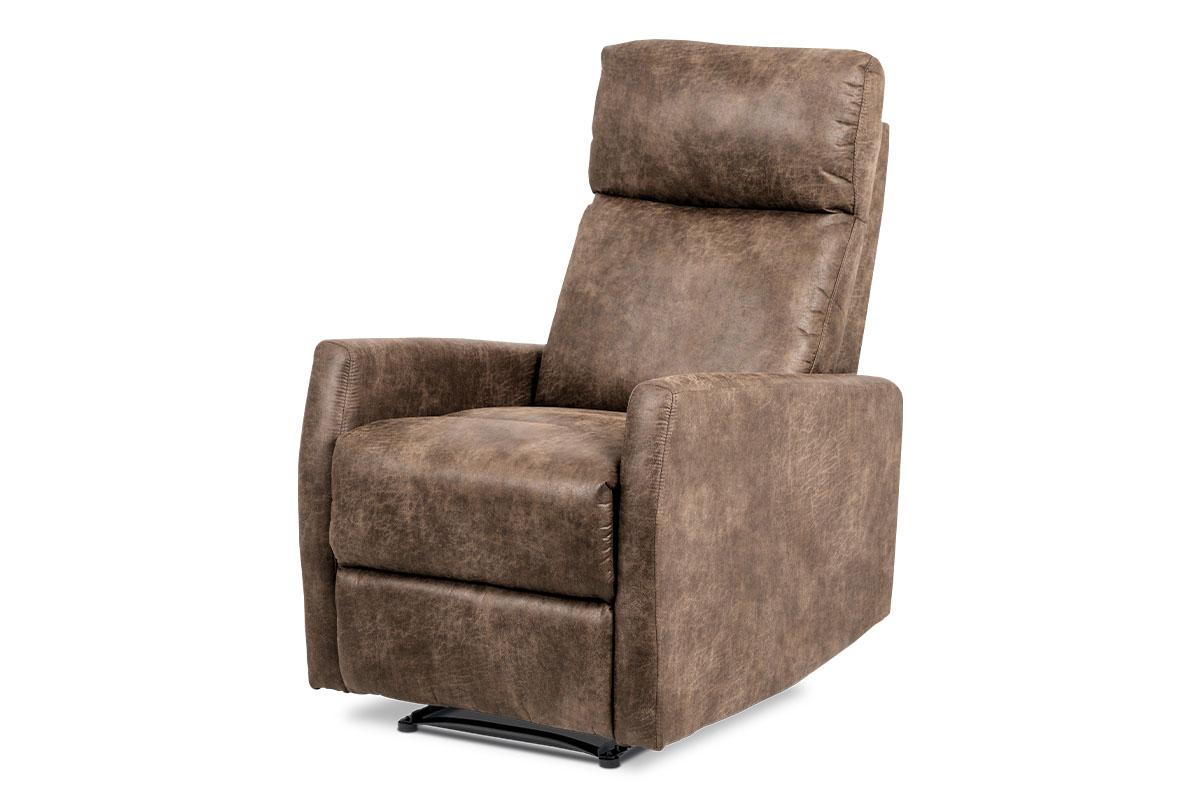 relax kreslo, coffee ekokoža/aretačné polohovanie-TV-5050 COF3