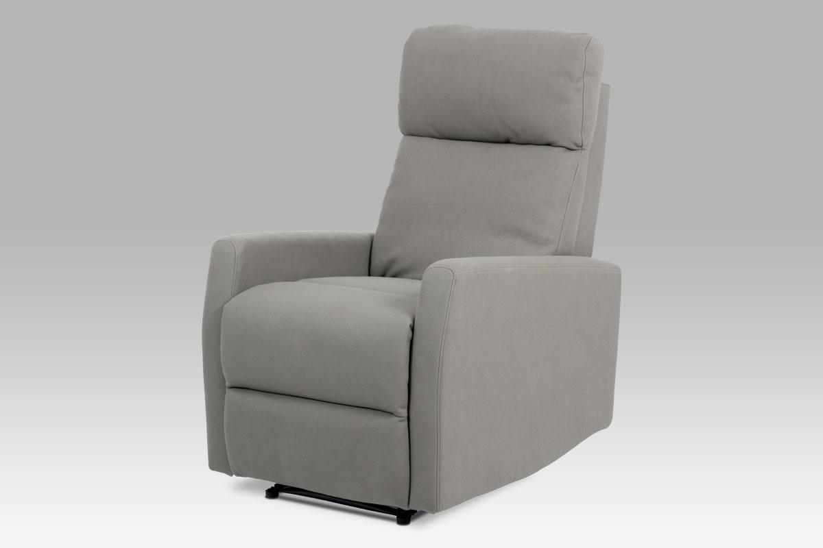 relax kreslo, lanýžová ekokoža/aretačné polohovanie-TV-5050 LAN