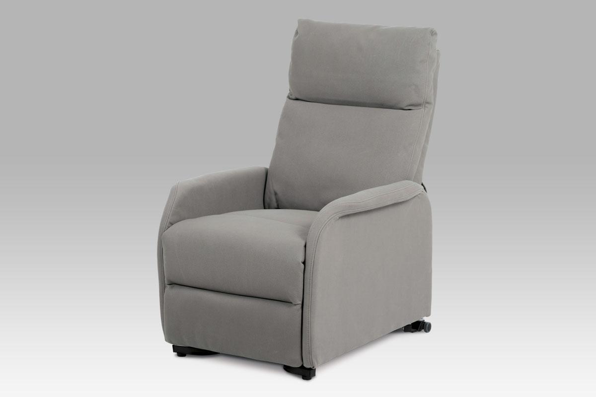 relax kreslo, lanýžová ekokoža/elektrické polohovanie-TV-5070 LAN