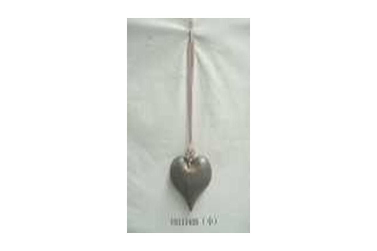 Srdíčko, kovová dekorace na zavěšení