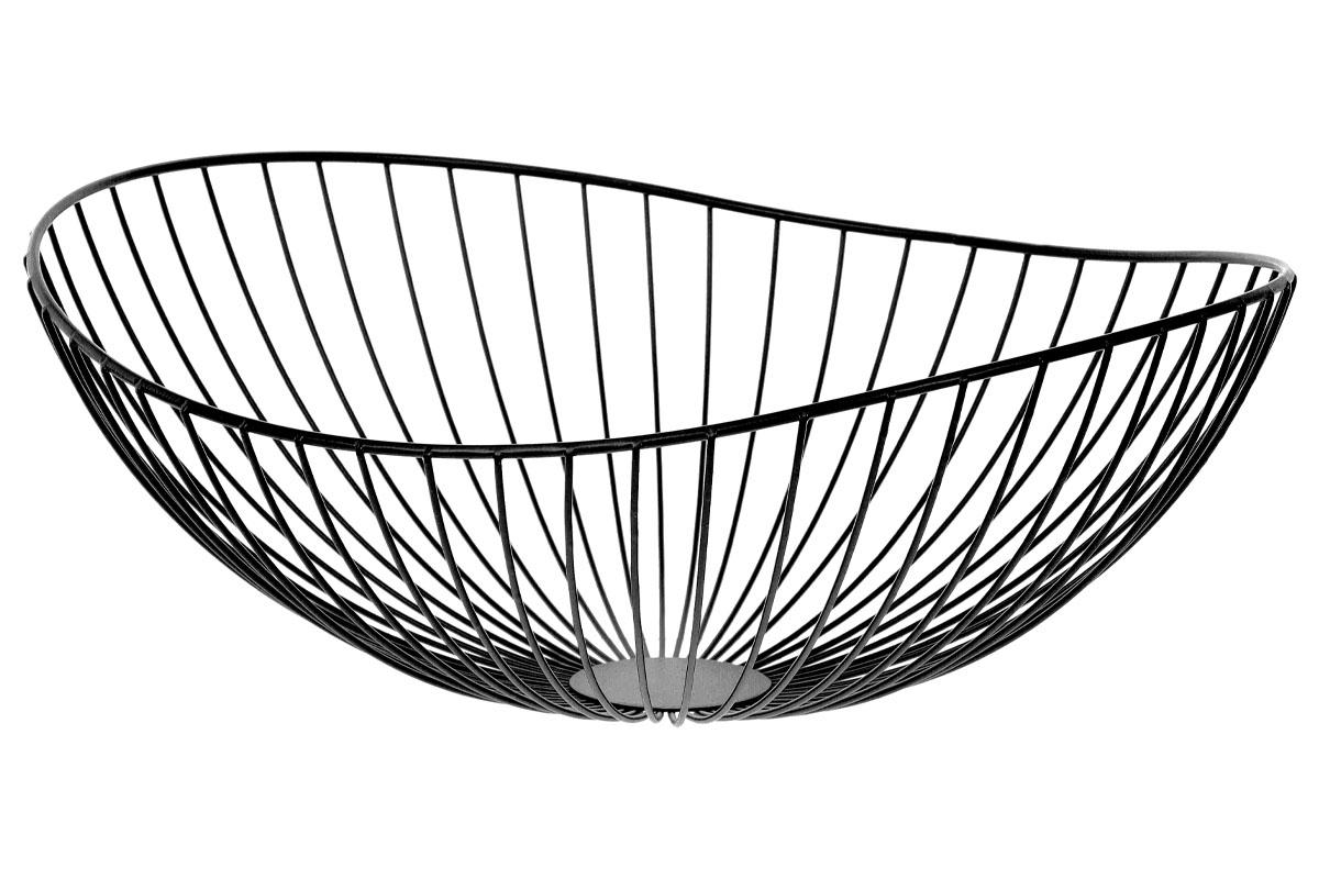Košík, kovová dekorace, barva černá