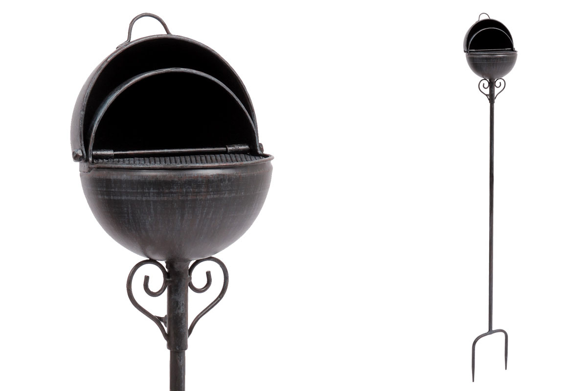 Popelník, kovová dekorace na zapíchnutí do zahrady