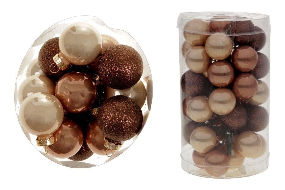Ozdoby skleněné na drátku, pr.2.5cm, cena za 1 balení