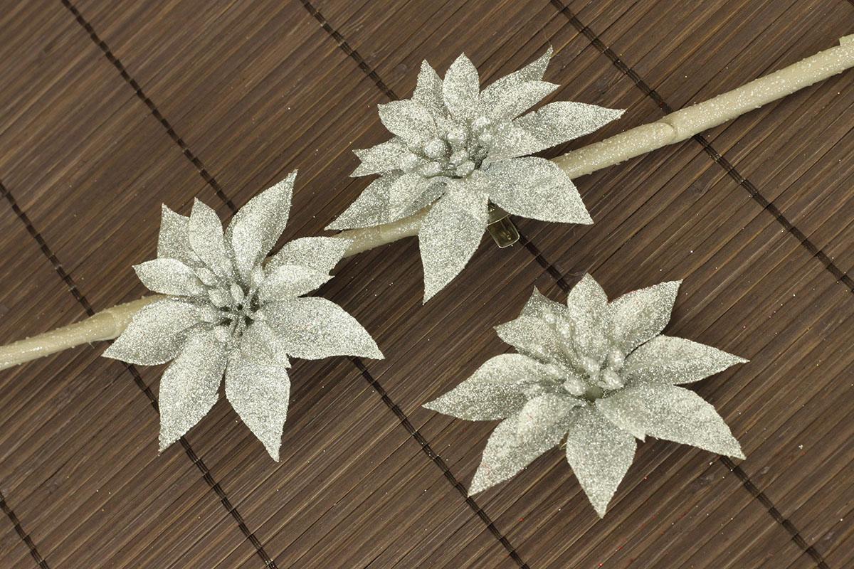 Dekroačný kvet na drôtiku, cena za sadu 3 kusov