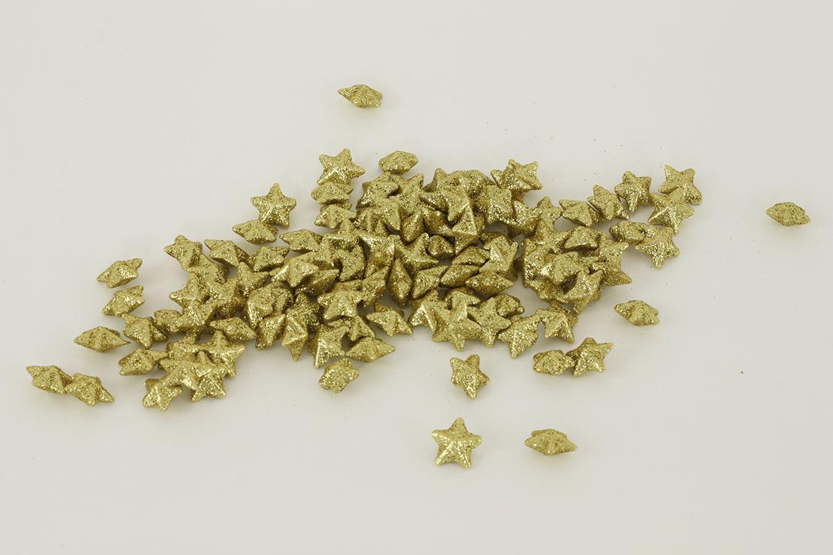 Dekoračná zlatá hviezdička, cena za sadu 120 kusov